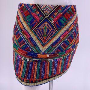 PIA PAURO SKIRT Mini Sequin Embroidered MEDIUM